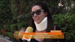 Ariadne Díaz sufrió accidente