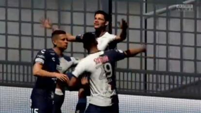 En el futbol virtual, Romario Ibarra, representante de Pachuca, goleó 3-0 a Leandro González y los Xolos de Tijuana.
