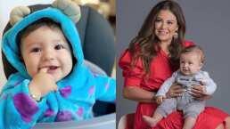 El hijo de Mariana Echeverría ya es modelo de pañales y ella lo presume orgullosa