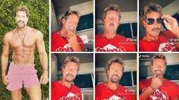 Gabriel Soto se quita la barba, pero no sin antes recrear icónicos looks de celebridades