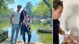 ¡Casi se vomita!: Mariana Echeverría se burla al ver a su esposo cambiarle el pañal a Lucca