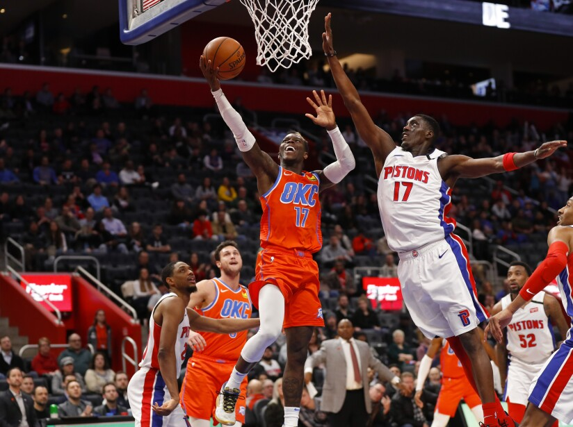 Thunder Pistons Basketball