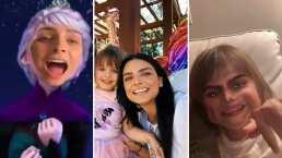 Aislinn Derbez cumple el sueño de Kailani y la transforma en Elsa de 'Frozen' con ayuda de este filtro