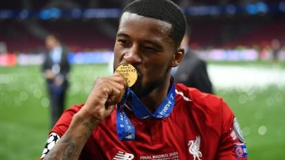 Georginio Wijnaldum celebra 150 partidos con la camiseta del Liverpool, y ya tiene una Champions League.