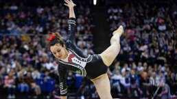 Con traje de mariachi esta gimnasta impactó con su rutina