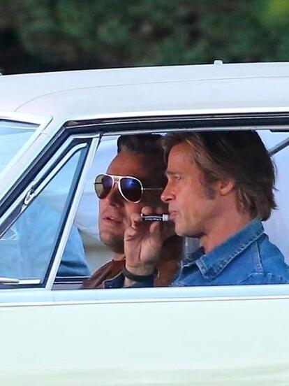 Se vio a ambos actores grabando lo que será un nuevo proyecto, 'Once Upon a Time in Hollywood'