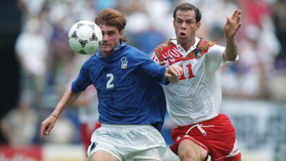 México empató con la escuadra 'azurri' 1-1 en la fase de grupos durante la Copa del Mundo Estados Unidos 1994, donde Deniel Massaro anotó por la parte italiana, mientras que por México, el autor del gol fue Marcelino Bernal que cerró con empate el partido.
