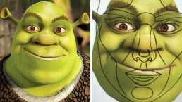 ¿Es un papucho? Photoshopean cara de Shrek con proporciones perfectas