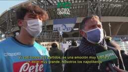 Aficionados de Napoli y sus sentimientos tras la partida de Maradona