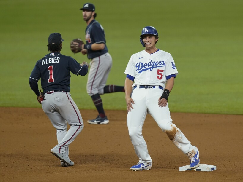NLCS Braves Dodgers Baseball