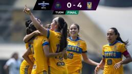 Resumen | Tigres golea 0-4 a Pumas y les quita el invicto como local