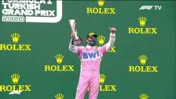 Checo Pérez festejó su podio en el GP de Turquía