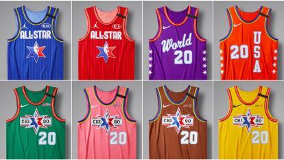Estos modelos de la marca Jordan, podrán ser vistos en cancha el 14 de febrero. Se usaron el azul y rojo para el juego All-Star, morado y naranja para el Rising Stars, verde y rosa para el juego de Celebridades y, por último, café y amarillo para el de Olimpiadas Especiales Unificadas de Basketball.
