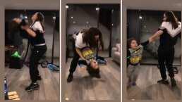 'Ay, me dolió': Hijo de Ariadne Díaz sufre pequeño accidente al querer mostrar su mejores pasos de baile