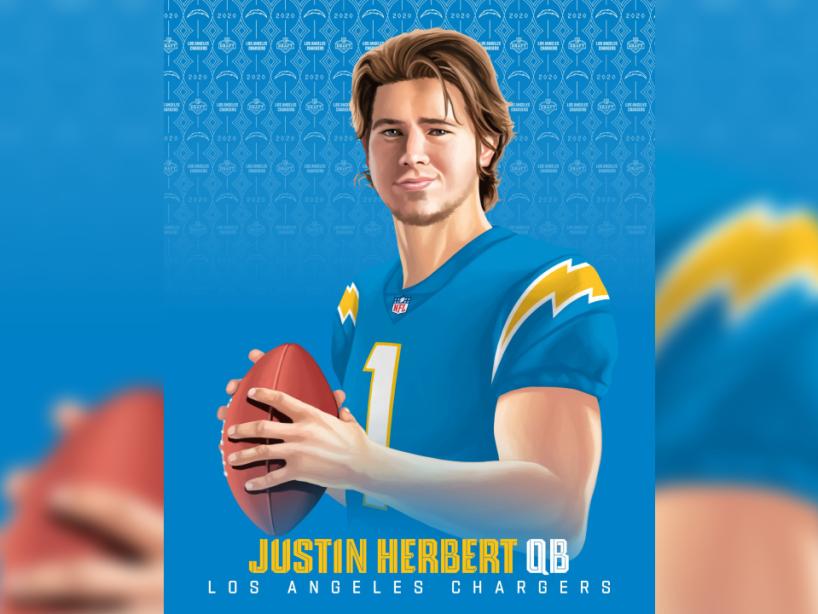 Justin Herbert, NFL Draft 2.png
