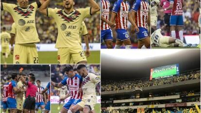 Las Águilas nunca había derrotado a Chivas por tres goles o más, en los partidos efectuados en el estadio Azteca.