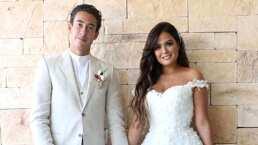 Un video publicado por Yurem revela más detalles en la romántica boda entre Mariana Echeverría y Óscar Jiménez