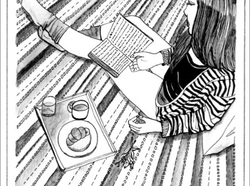 """Ilustraciones de """"A Solas""""; los dibujos sobre una soltera en soledad, por Idalia Candelas"""