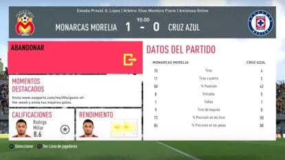 Morelia se quedó con los tres puntos gracias a un gol tempranero de penal para vencer al Cruz Azul 1-0.