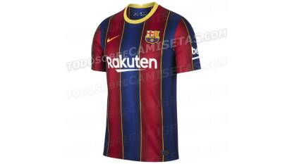 Según las recientes filtraciones, así serían las camisetas de los equipos para la próxima temporada. Esta es la del Barça, ¿les gusta?