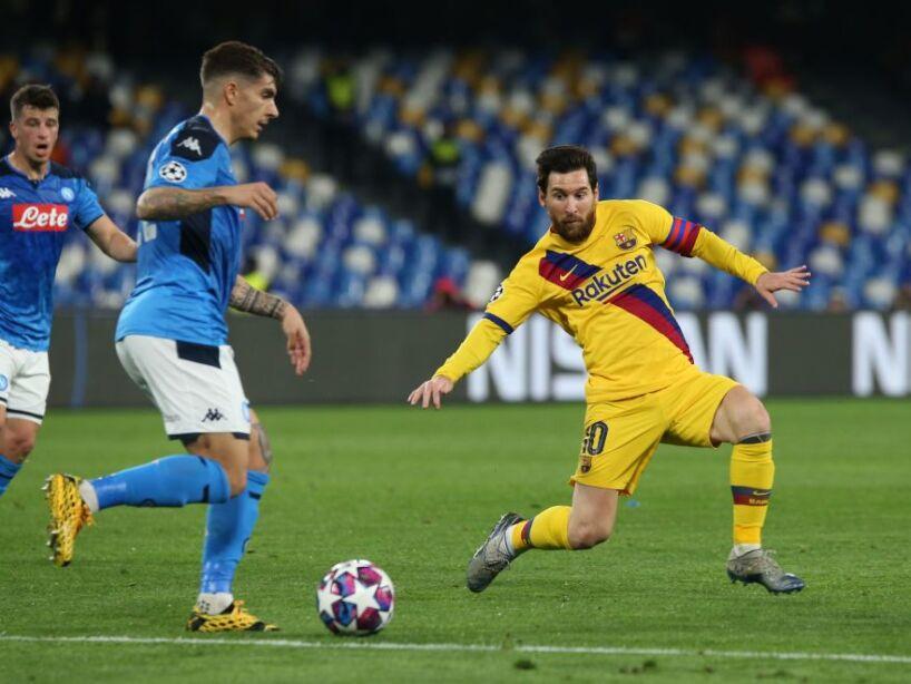 Napoli Messi Champions League Barcelona