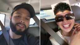 Entre bromas y filtros, así se divierten Leonardo y Ángela Aguilar mientras hacen un viaje en carretera