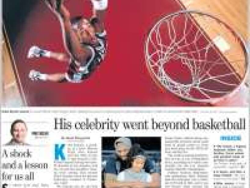 Kobe Bryant, periódico, THE PHILADELPHIA INQUIRER.jpg