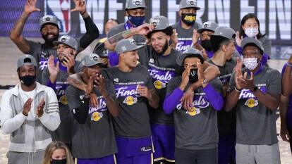 Las espectaculares postales del título de los Lakers | Las mejores imágenes de los festejos tras coronarse en la Conferencia del Oeste.