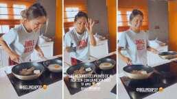 Christian Nodal exhibe a Belinda como toda una ama de casa y muestra su talento para la cocina