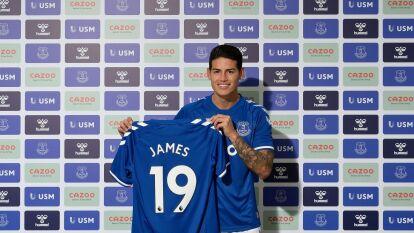 ¡James Rodriguez es azul!