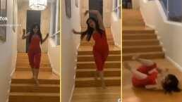 """¿Estará haciendo casting?: Maribel Guardia protagoniza aparatosa caída al estilo de """"La Rosa de Guadalupe"""""""