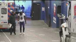 Lamar Jackson sale del partido tras un duro golpe ante Bills