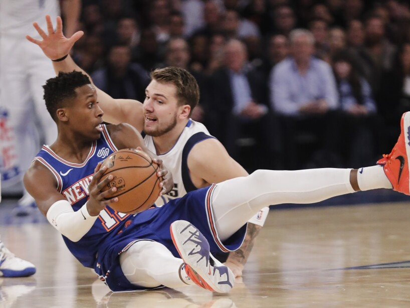 Mavericks Knicks Basketball