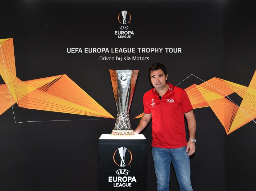 UEL Trophy Tour Driven by Kia at the Geneva International Motor Show
