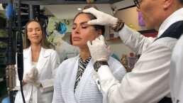 Totalmente en vivo: Galilea Montijo se somete a procedimiento para perfilar su rostro