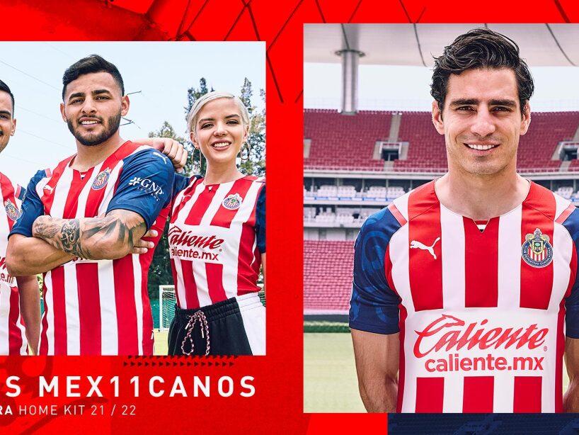La playera de Chivas para la campaña 2021-2022 y sus tradicionales colores.