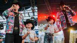 Eduin Caz presume con orgullo la tarea de su hijo: un dibujo de los dos cantando en el escenario