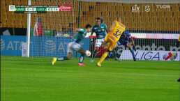 Carlos González estuvo cerca de anotar su primer gol con Tigres