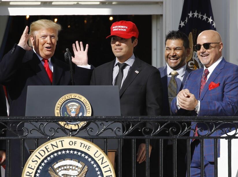 Donald Trump, Kurt Suzuki, Dave Martinez, Mike Rizzo