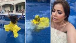 Este es el video en el que Gloria Trevi casi se ahoga en la piscina de su casa