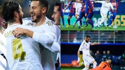 Con goles de Sergio Ramos, Federico Valverde y doblete de Karim Benzema, el real Madrid golea y llega 25 unidades.