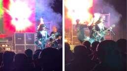 Guitarrista se prende en llamas durante concierto