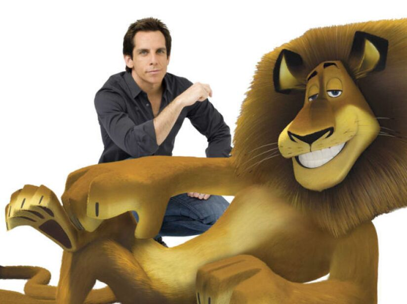 3. Ben Stiller: Este actor es la voz del león Alex, el más metrosexual del cine en la película Madagascar.