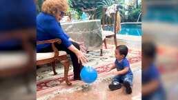 Silvia Pinal reaparece jugando con su nieto Apolo y demuestra lo consentidora que es