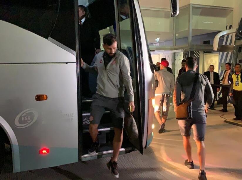Los Rayos llegando al estadio