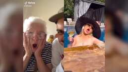 Mira la emoción de esta abuelita al ver que Christina Aguilera utilizó uno de sus audios para hacer gracioso TikTok