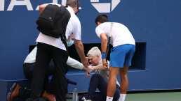 Tras recibir pelotazo de Djokovic, la jueza fue amenazada en Instagram