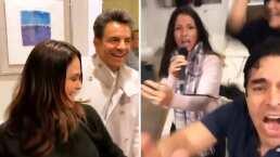 '¡Únete a la fiesta!': Eugenio Derbez y Alessandra Rosaldo en un divertido karaoke entre amigos