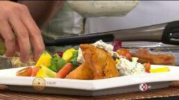 Cocina Chef Omar Sandoval ´Pechugas glaseadas con aderezo de pepino´