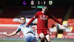 El Liverpool complica su récord de puntos por empatar con Burnley